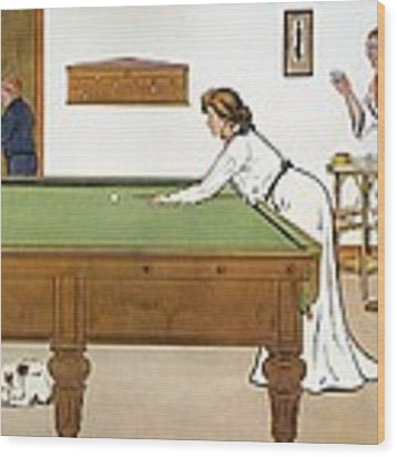 A Billiards Match Wood Print by Lance Thackeray