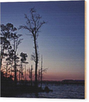 After The Sun Goes Down Wood Print by Kim Hojnacki