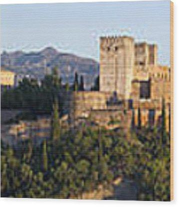 Alhambra Palace - Panorama Wood Print by Nathan Rupert