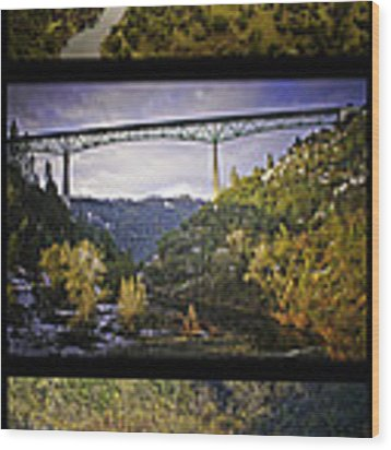 American River Triptych Wood Print by Sherri Meyer