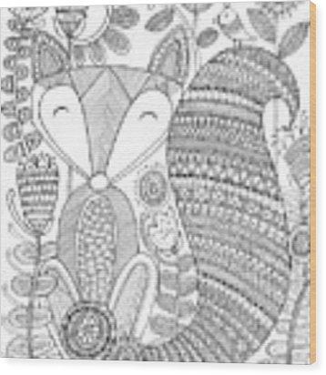 Animal Fox 4 Wood Print by MGL Meiklejohn Graphics Licensing