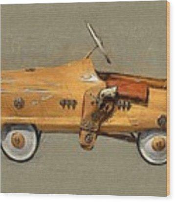 Antique Pedal Car L Wood Print by Michelle Calkins