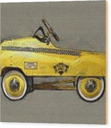 Antique Pedal Car Lll Wood Print