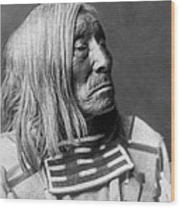 Apsaroke Native Indian Circa 1908 Wood Print by Aged Pixel