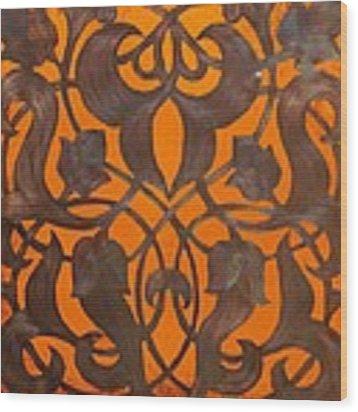 Arabesque Window Passage Wood Print by Shahna Lax