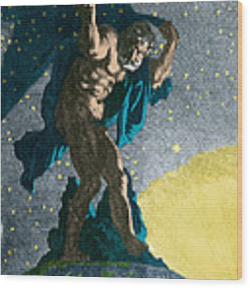 Atlas Supporting The Heavens Wood Print by Photo Researchers