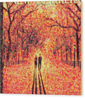 Autumn In Central Park Wood Print by Eric Drooker