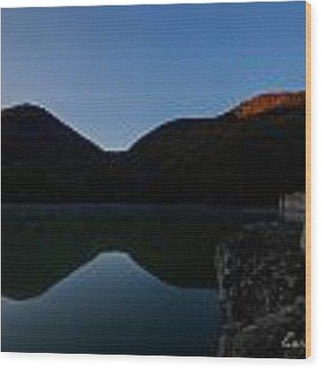 Autunno Alba Sul Lago - Autumn Lake Dawn 9568 Wood Print by Enrico Pelos