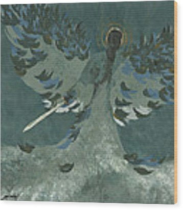 Avenging Angel Wood Print by John Wyckoff
