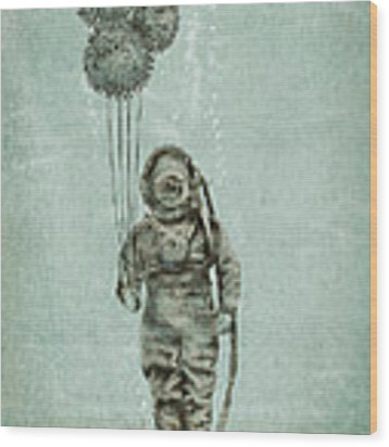 Balloon Fish Wood Print by Eric Fan