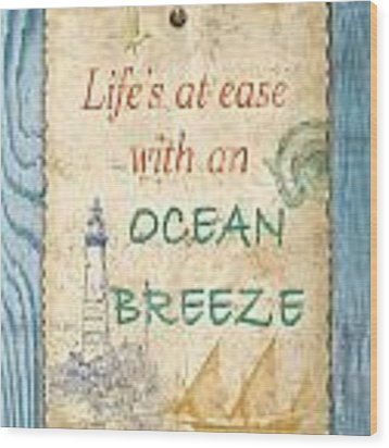Beach Notes-c Wood Print by Jean Plout