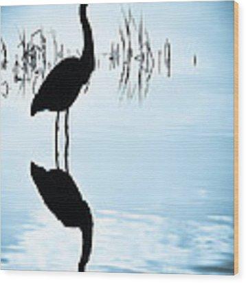 Blue Herons Wood Print by Francis Trudeau