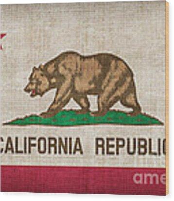 California State Flag Wood Print by Pixel Chimp