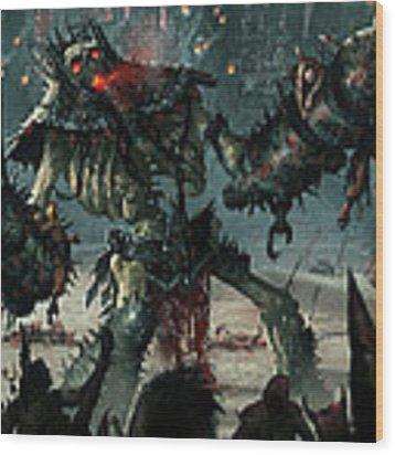 Carnage Gladiator Wood Print