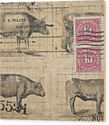 Cattle Arrived Wood Print