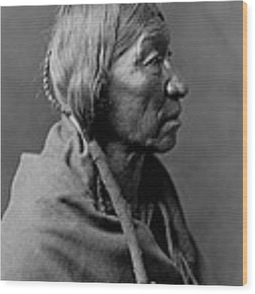 Cheyenne Indian Woman Circa 1910 Wood Print by Aged Pixel