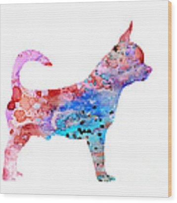 Chihuahua 2 Wood Print by Watercolor Girl