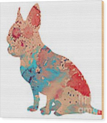 Chihuahua 3 Wood Print by Watercolor Girl