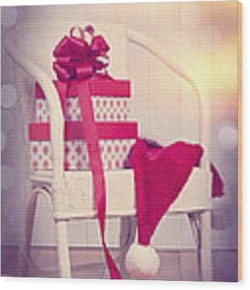 Christmas Presents Wood Print by Amanda Elwell