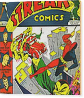 Classic Comic Book Cover - Silver Streak Comics Daredevil - 0320 Wood Print