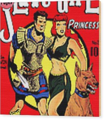 Classic Comic Book Cover - Slave Girl Princess - 1110 Wood Print