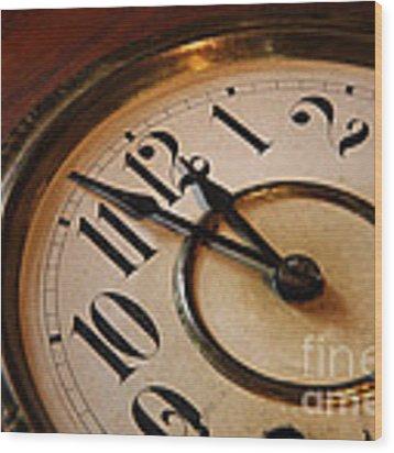Clock Face Wood Print