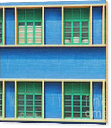 Colorful Windows Wood Print by Yew Kwang