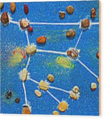 Constellation Of Ursa Major Wood Print by Augusta Stylianou