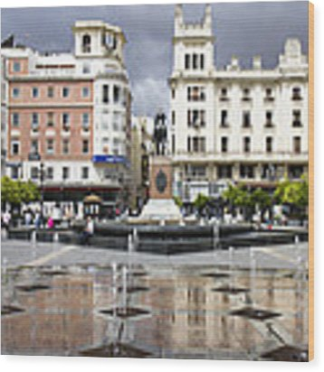 Cordoba Spain City Centre Wood Print by Nathan Rupert