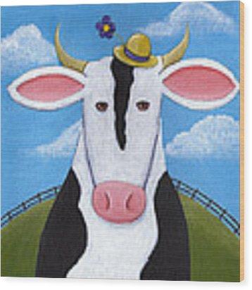 Cow Nursery Wall Art Wood Print