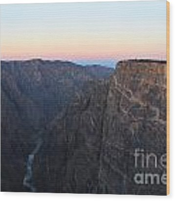 Dawn At The Black Canyon Wood Print by Kate Avery