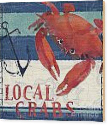 Deep Sea Crab Wood Print by Paul Brent