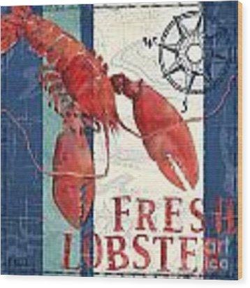 Deep Sea Lobster Wood Print by Paul Brent