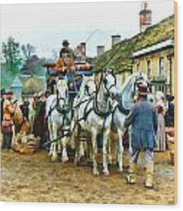 Departing Cranford Wood Print by Paul Gulliver