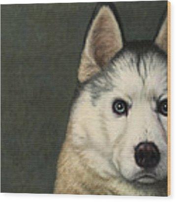 Dog-nature 9 Wood Print