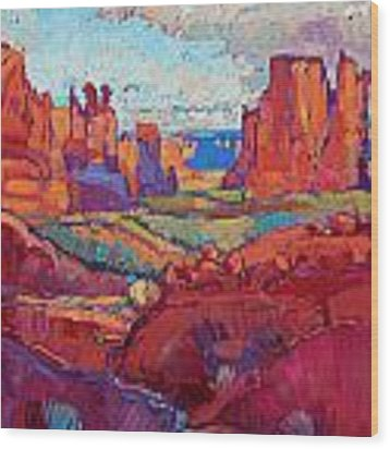 Drenched In Spring Wood Print by Erin Hanson