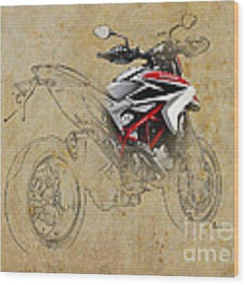Ducati Xii Wood Print