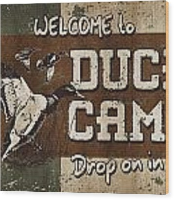 Duck Camp Wood Print