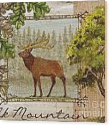 Elk Mountain Wood Print