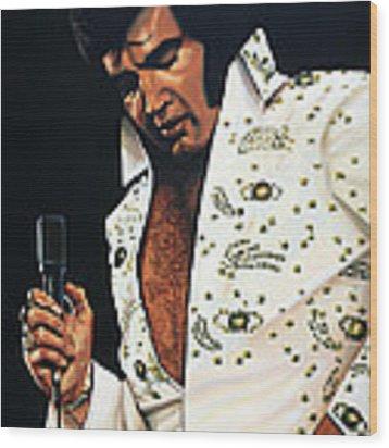 Elvis Presley Painting Wood Print