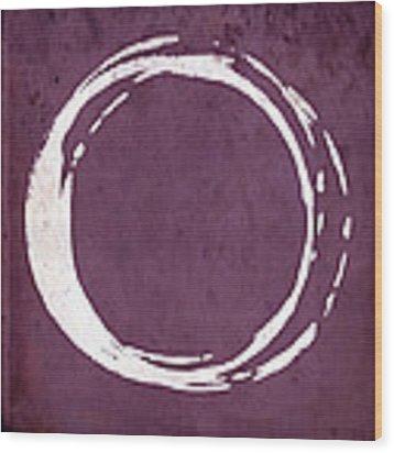 Enso No. 107 Magenta Wood Print