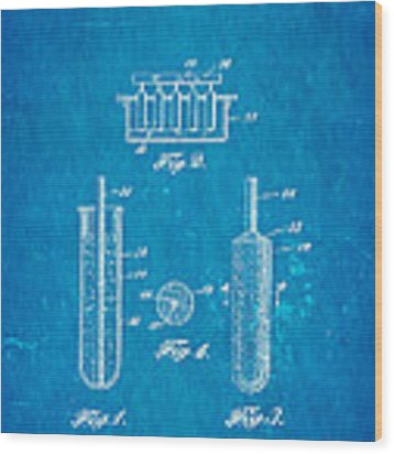 Epperson Popsicle Patent Art 1924 Blueprint Wood Print