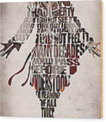 Ezio Auditore Da Firenze From Assassin's Creed 2  Wood Print