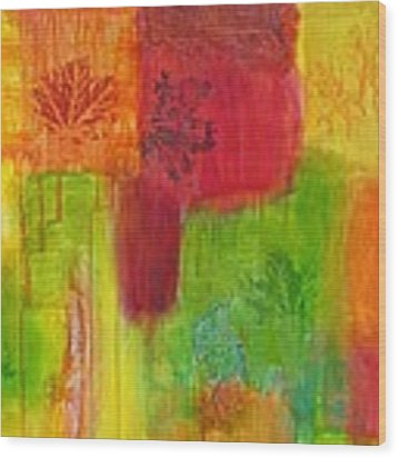 Fall Impressions Wood Print by Angelique Bowman