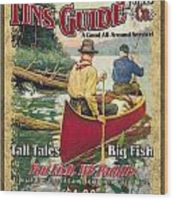 Fins Guide Service Wood Print
