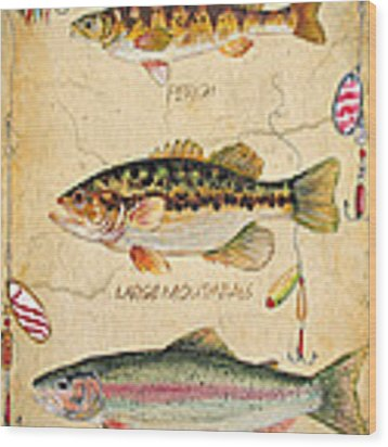 Fish Trio-b Wood Print by Jean Plout