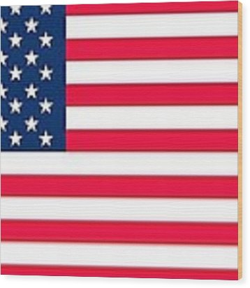 Flag Of The United States Of America Wood Print by Anonymous