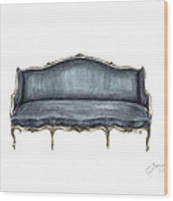 French Settee  Wood Print