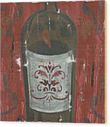 Friendships Like Wine Wood Print by Debbie DeWitt