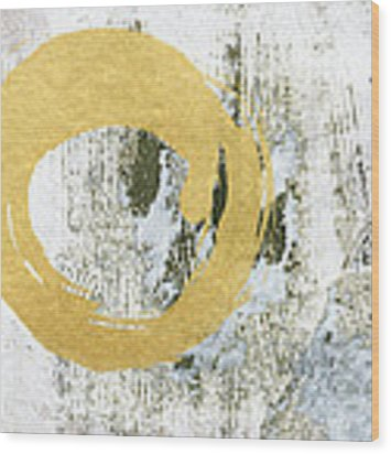 Gold Rush - Abstract Art Wood Print by Linda Woods